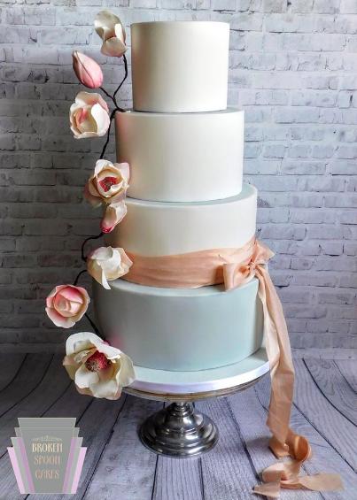 Magnolia Dream Wedding Cake