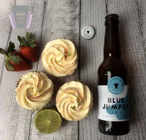 Strawberry & Lime IPA Cupcakes