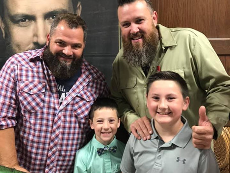 Singing Contractors gain two new young fans!