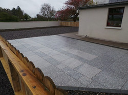 limestone patio area