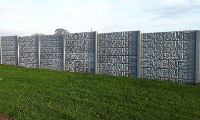 garden concrete fencing