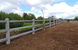 concrete 3 rail post and rail fencing