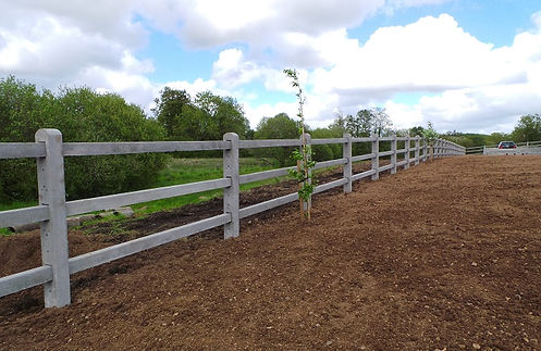 concrete 3 rail post and rail fencing.jpg