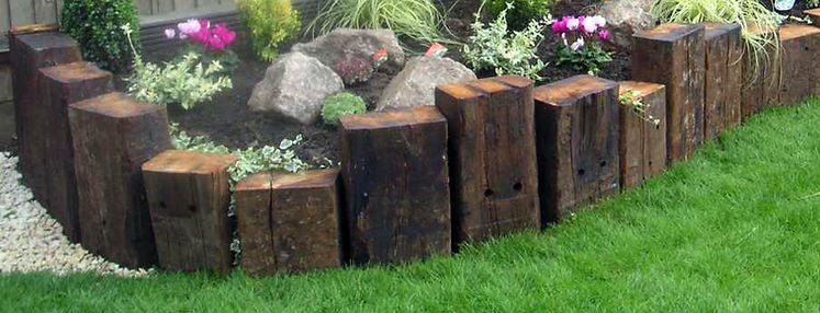 Oak-Sleepers-Garden-Edging