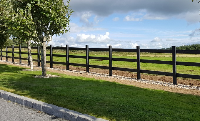 recycled plastic fence