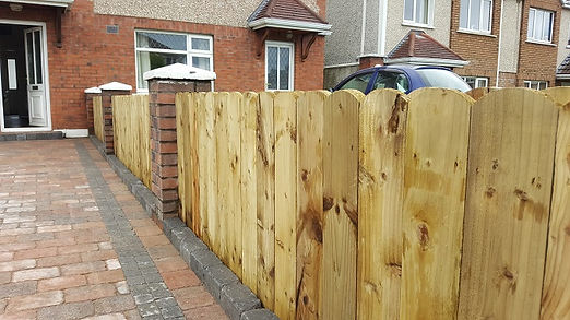 low round top picket fence