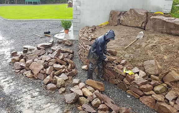 building stone wall - flannery and sons Landscaping