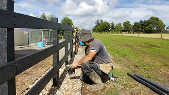recycled plastic post and rail fence