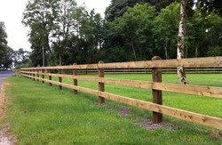 post and rail fence, timber fence