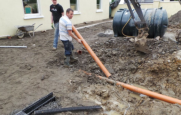 groundworks-pipe laying-foundations