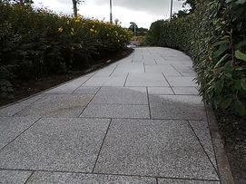 natural limestone walkway