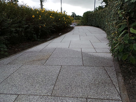 this picture is of a limestone walkway in sligo town