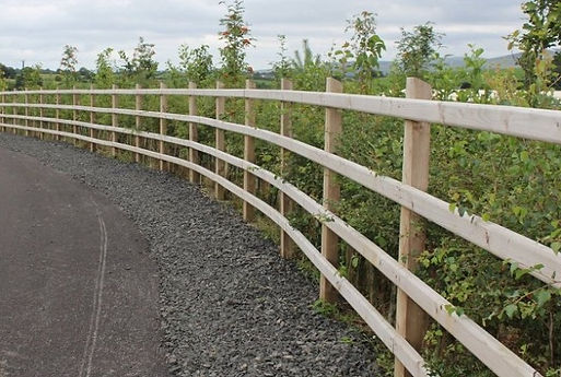 4 rail timber fence