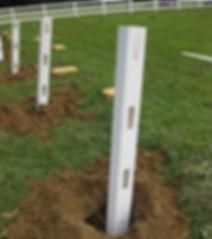 pvc fencing post
