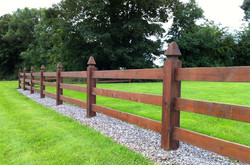 Timber post and rail fence sligo