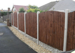 concrete-posts-concrete-fence- flannery and sons fencing contractors