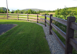 timber effect fencing