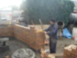 brick  wall-garden wall- brickwork sligo