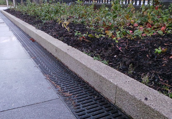 Granite stone edging, garden edging