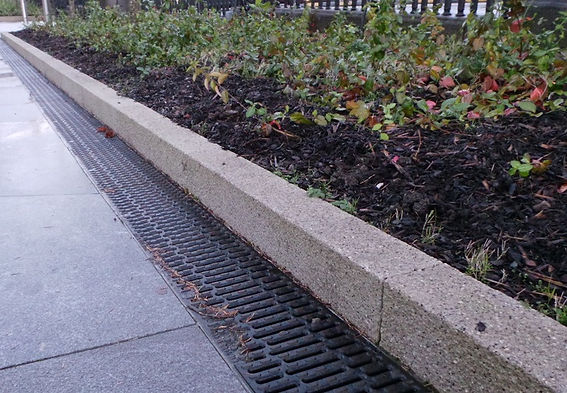 Granite stone edging, garden edging