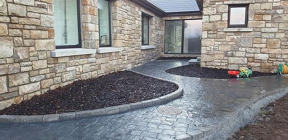 imprinted concrete footpaths
