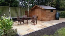 stone patio-garden patio area
