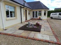 Mint sandstone garden patio area