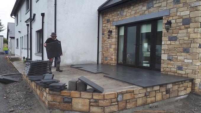 limestone patio, limestone slabs, limestone paving