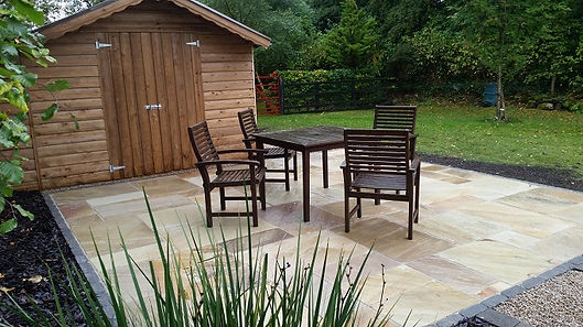 Sandstone patio area, Flannery and sons Landscaping