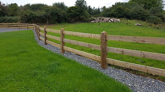 timber post and rail fenceing, flannery and sons landscaping