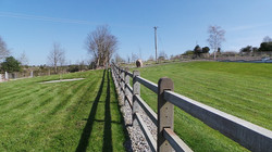 concrete post and three rail post