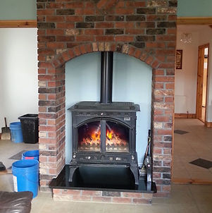 picture of a brick fireplace, brickwork