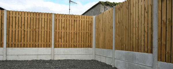 concrete h post and panel fence