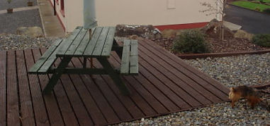 patio decking, timber patio, patio made from timber in sligo