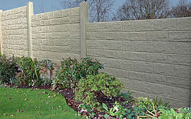 concrete post and panel fence