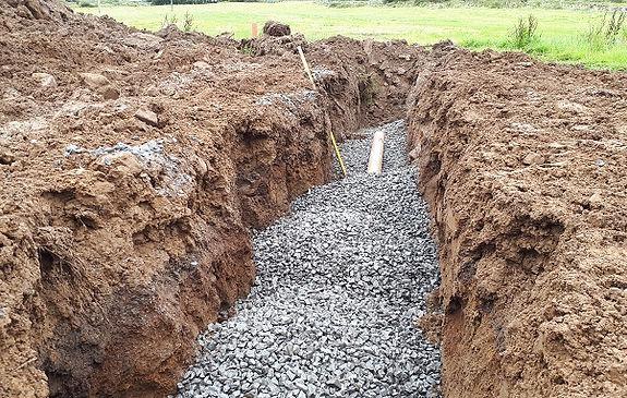 sewage system percolation area