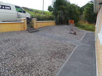 Garden footpaths-garden concreting