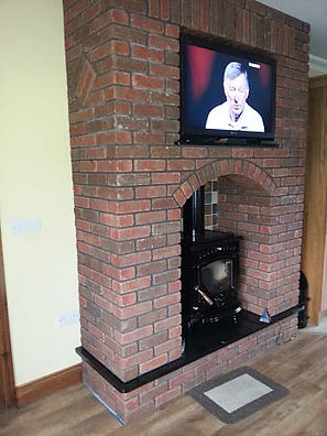 brick fireplace- brickwork
