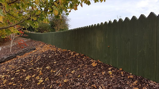 garden timber picket fence from flannery and sons landscaping-fencing contractors