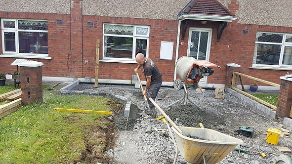 driveway in sligo town under construction