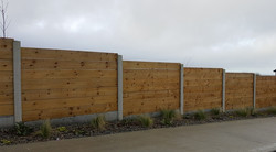 h post and timber panel