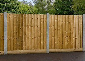 Timber and concrete post fencing