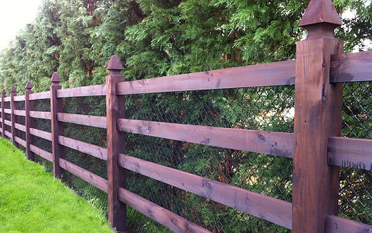 4 rail mortice fence