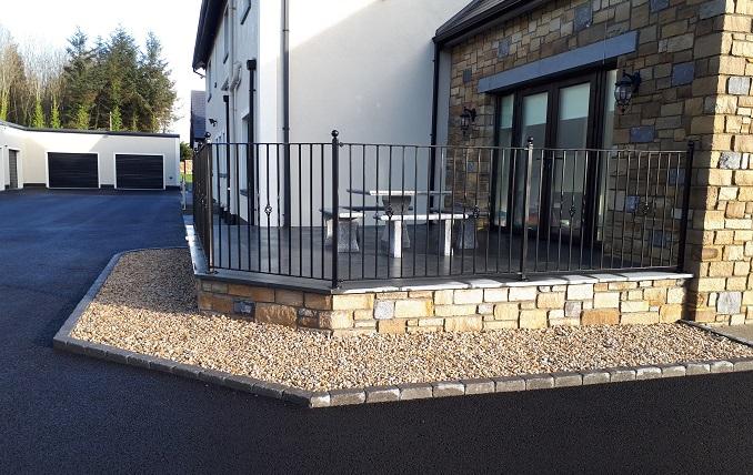 limestone, patio, stone slabs,