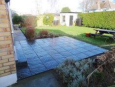 Garden concrete patio slabs