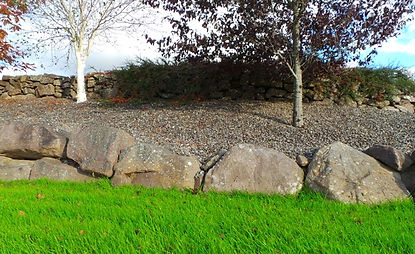 garden rock wall-stone walls-stonework- stone sligo