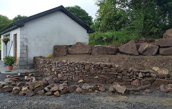 stone and rock garden wall