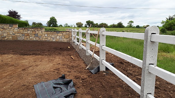 concrete 3 rail post and rail fencing