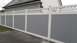 pvc panel fencing