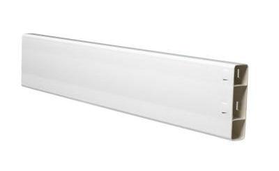 white pvc fence rail